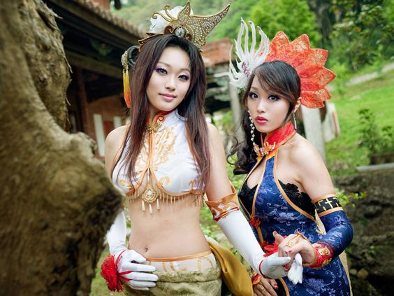 真三國無雙五-秋水 甄姬,掛日 貂蟬 Dynasty Warriors Diaochan, Lady Zhen 真・三國無双 coser coplay photo cosplayer コスプレ