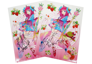 Original asianbeat clear files signed by LinQ Ami Himesaki and Manami Sakura!