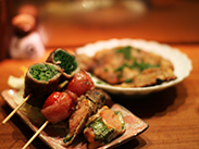 Shunsai-makigushi (Skewers made with seasonal vegetables/ingredients)