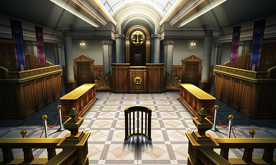 A Japanese courtroom