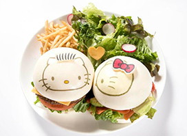 Hello Kitty and Dear Daniel Love Love ❤ Burger