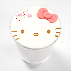 Hello Kitty's Chocolate Smoothie 830 yen (excluding tax)